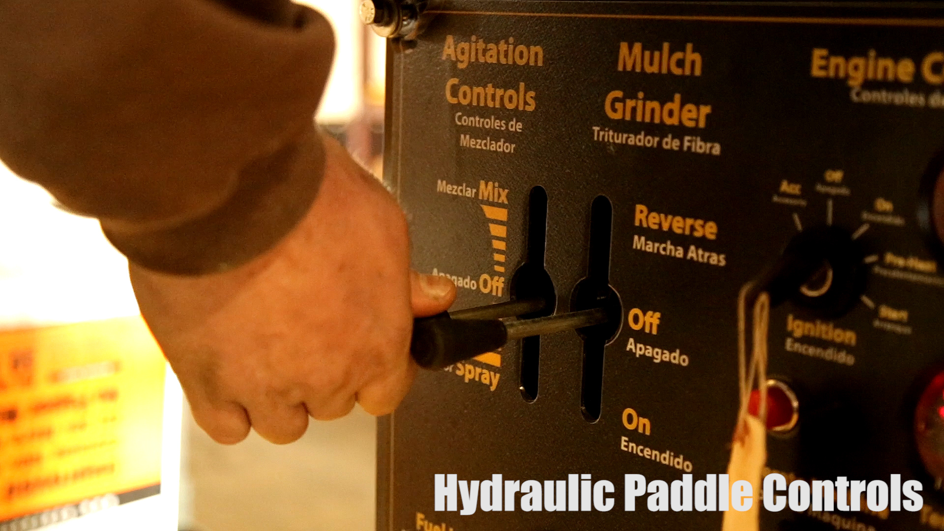 2142_hydraulic-controls Pull-Behind HydroSeeder | 1000 Gallon | Epic Manufacturing
