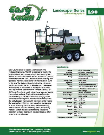 2367_ez-lawn-l90-specsheet L90 Landscaper Series | 900 Gallon HydroSeeder For Sale