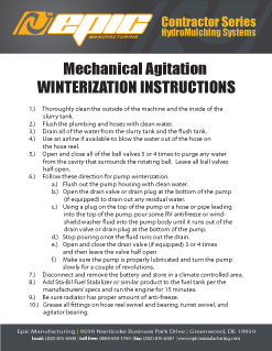 2053_epiccontractorserieswinterizationinstructions LF120 Landfill Solutions Series | 1000 Gallon HydroSeeder