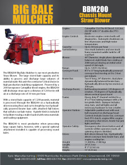 2432_bbm200 BBM200 Big Bale Mulcher | 30 Ton Hay Blower | 200 HP StrawBlower